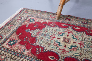 Vintage Mini Turkish Rug 2ftx3.5ft