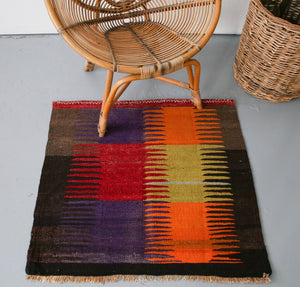 Old Mini Milas Kilim 2.10ftx2.10ft