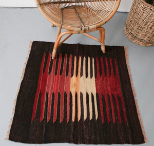 Old Mini Milas Kilim 3.3ftx3.3ft