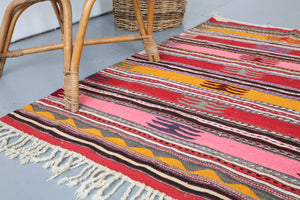 Old Mini Milas Kilim 2.10ftx4.8ft