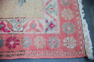 Vintage Kurdish Herki Runner 2.6ftx13.2ft