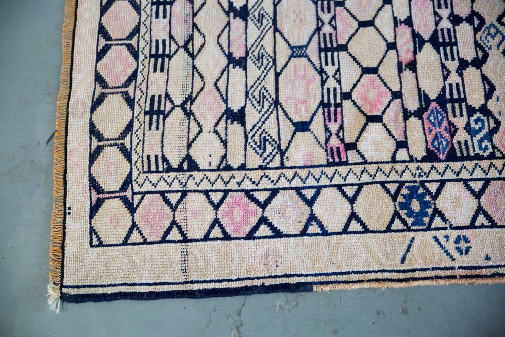 Vintage Kurdish Herki Runner 3ftx13ft