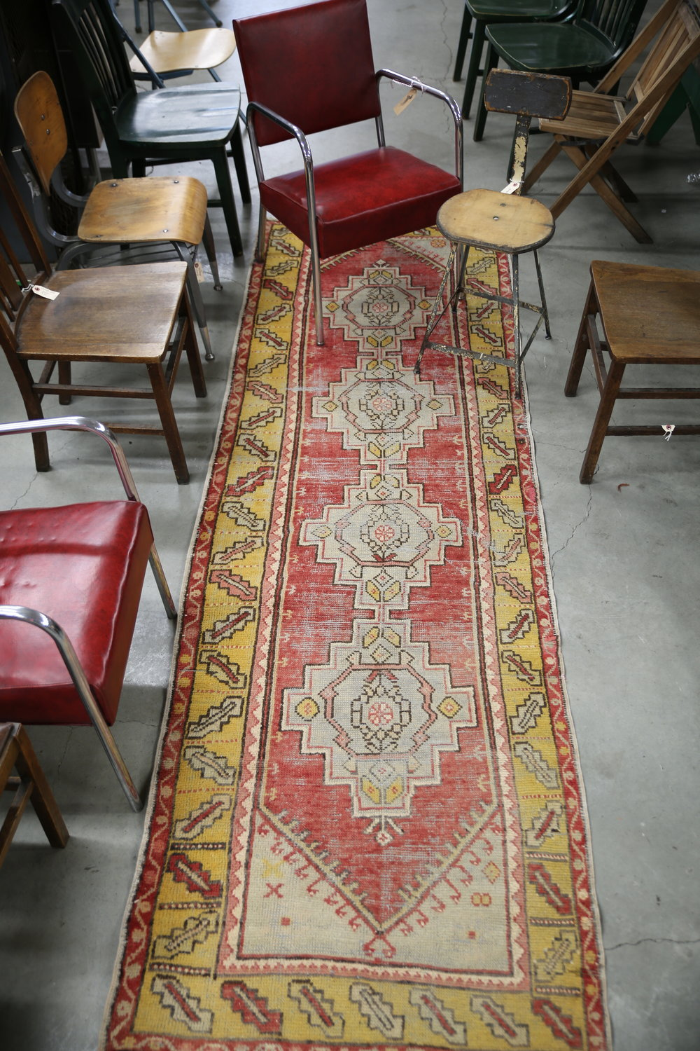 Vintage Faded Anatolian Runner Rug