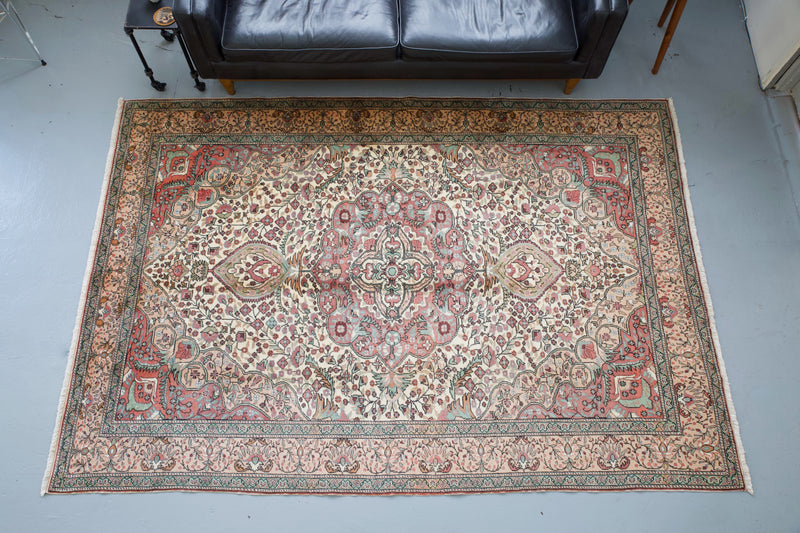 old rug, antique rug, earthy colors, faded colors, Turkish rug, vintage rug, soft rug, Portland, Oregon, rug store, rug shop, local shop