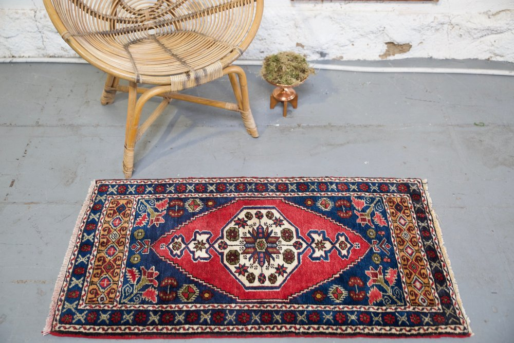 "Vintage Mini Turkish Rug 24""x44"""