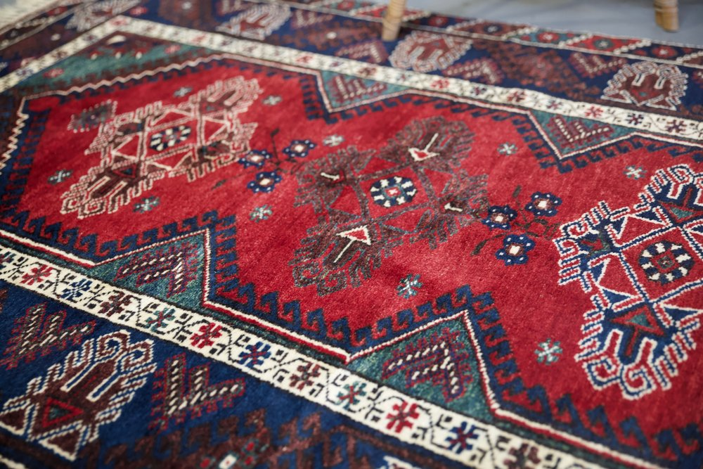 Old Antalya Dosemealti Carpet 4.1ftx6.4ft