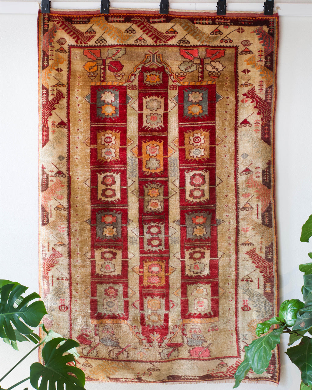 old rug, antique rug, earthy colors, faded colors, Turkish rug, vintage rug, soft rug, Portland, Oregon, rug store, rug shop, local shop, bold colors