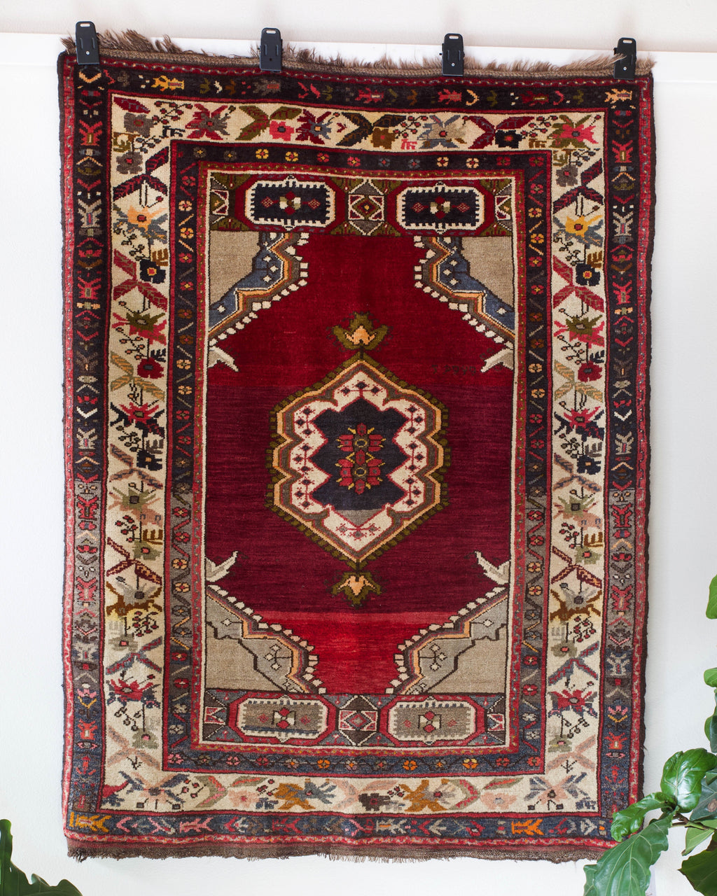 old rug, antique rug, Turkish rug, Portland, Oregon, rug store, rug shop, local shop, bright colors, wild shaman, large rug, area rug, red rug, bold color, burgundy, dark red, soft rug
