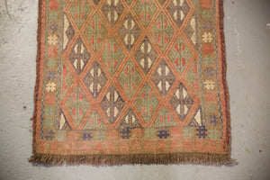 "Vintage Mini Turkish Kilim Rug 20""x40"""
