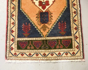 "Vintage Mini Turkish Rug 20""x41"""