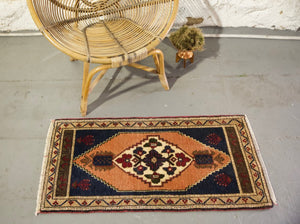 "Vintage Mini Turkish Rug 20""x42.5"""