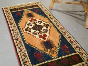 "Vintage Mini Turkish Rug 20""x43.5"""