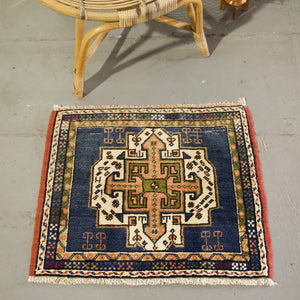 "Vintage Mini Turkish Rug 23""x27.5"""