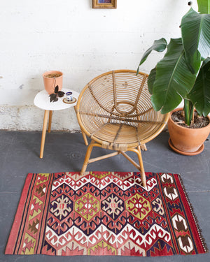 Vintage Mini Turkish Kilim Rug