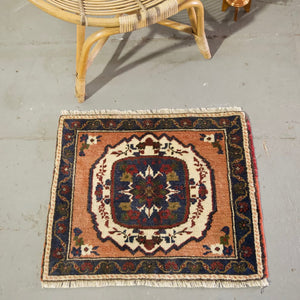 "Vintage Mini Turkish Rug 23""x25.5"""
