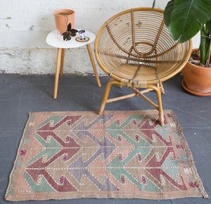 old rug, antique rug, earthy colors, faded colors, turkish rug, vintage rug, flat weave, mini rug, pile rug, Wild Shaman, Portland, Oregon, rug store, rug shop, local shop, kilim rug