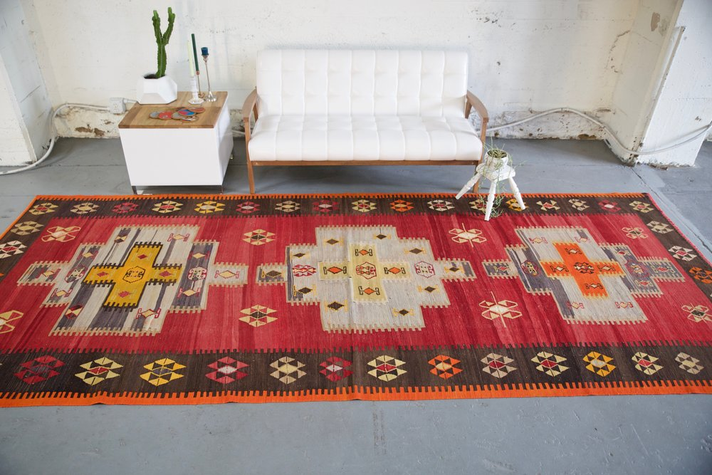 urkish rug, vintage rug, flat weave, kilim rug, large area rug, square rug, Wild Shaman, Portland, Oregon, rug store, rug shop, local shop,  bright colors, area rug, bold color