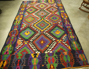 Vintage Denizli Kilim 5.8x9.11ft