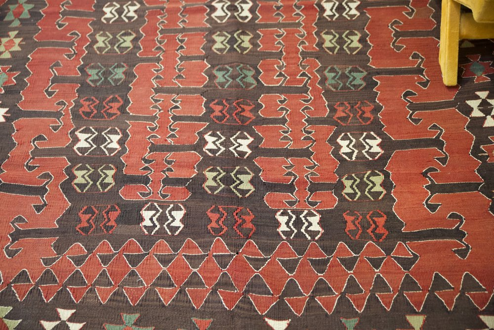Old Balikesir Yuncu Kilim 5.2x8.2ft