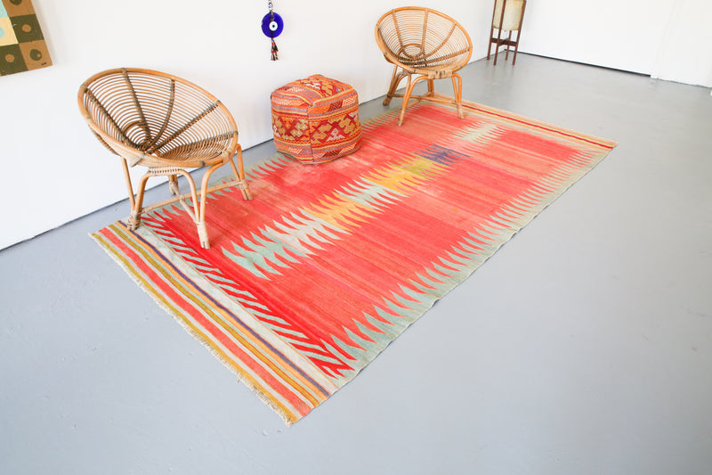 Old Bodrum Bos Kilim 5x9.5ft