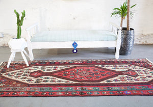 Old Herki Kilim Runner 3ftx8.5ft