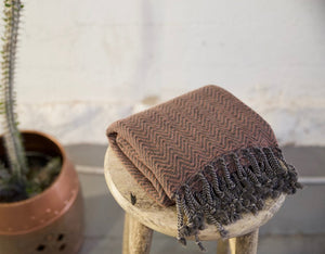 Handwoven Sabah Pestemal Towel in Brass (soft)