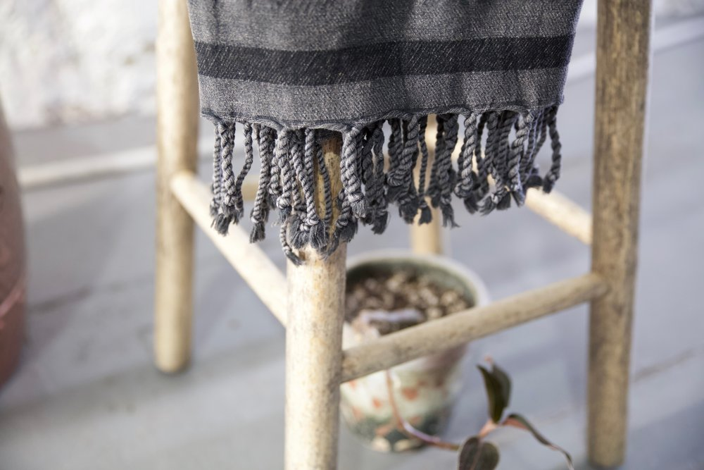 Gece Pestemal Scarf in Dark Grey