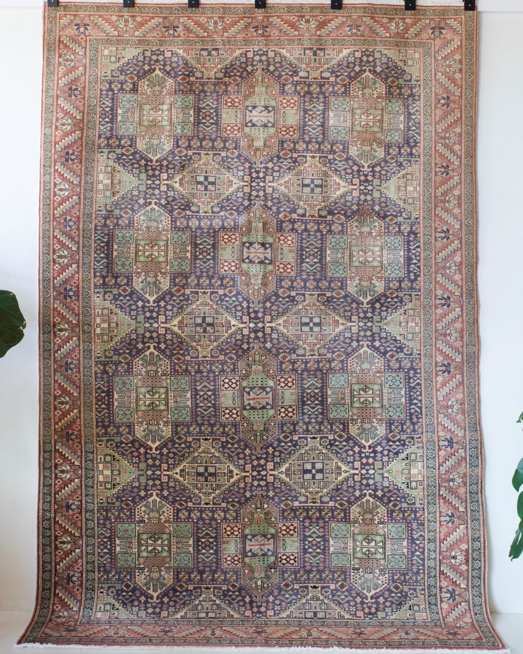 old rug, antique rug, earthy colors, faded colors, Turkish rug, vintage rug, soft rug, Portland, Oregon, rug store, rug shop, local shop, pile rug, ottoman rug, oriental rug, floral rug