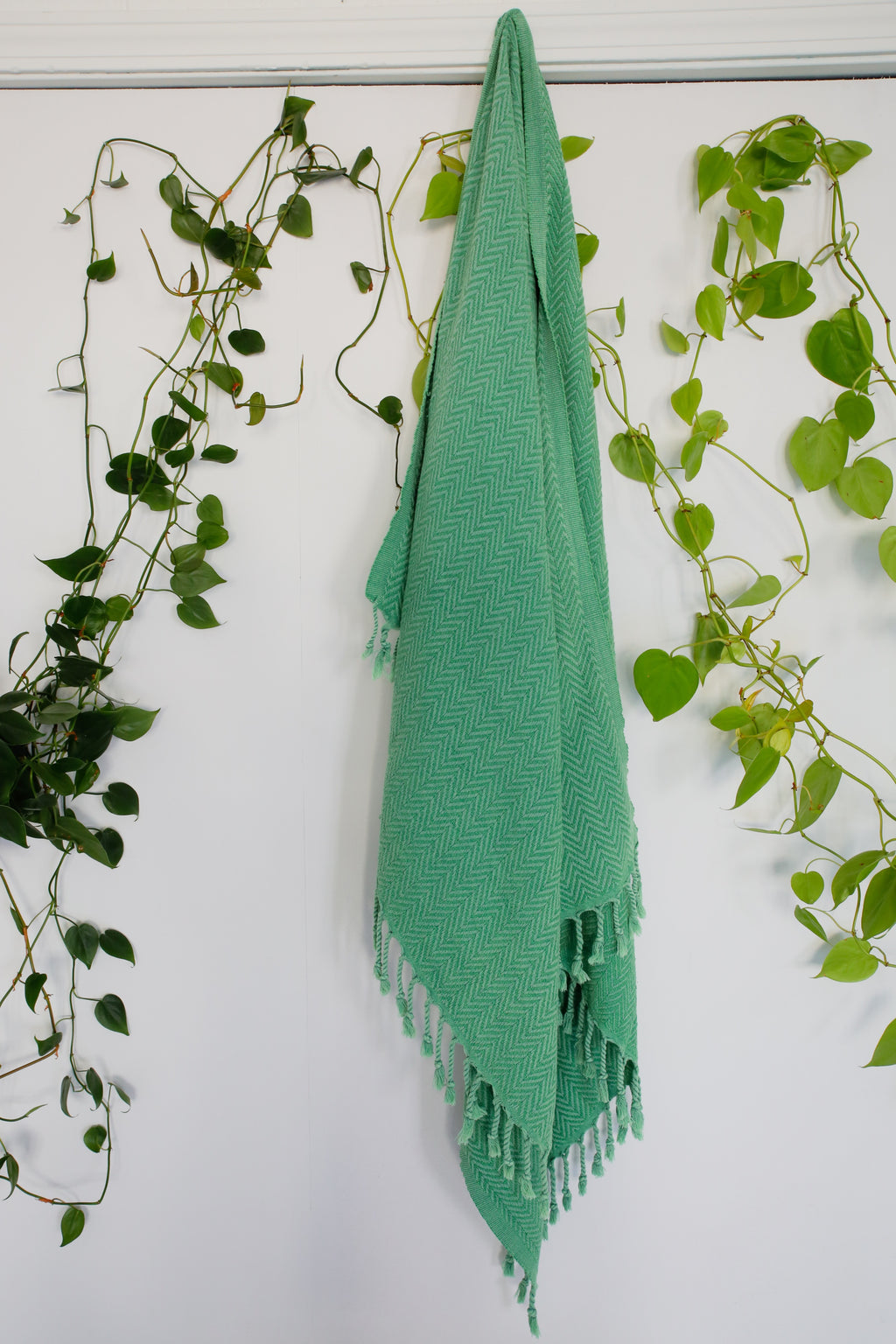 Handwoven Sabah Pestemal Towel in grass