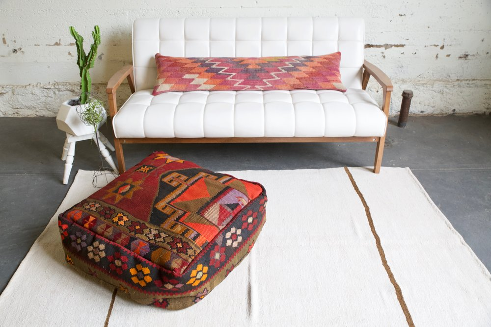Square Kilim Floor Cushion