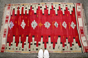 Vintage Corum Kilim 3.4x5.6ft