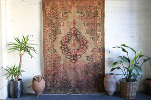 "Vintage Turkish Isparta Rug 6'7"" x 9'7"""