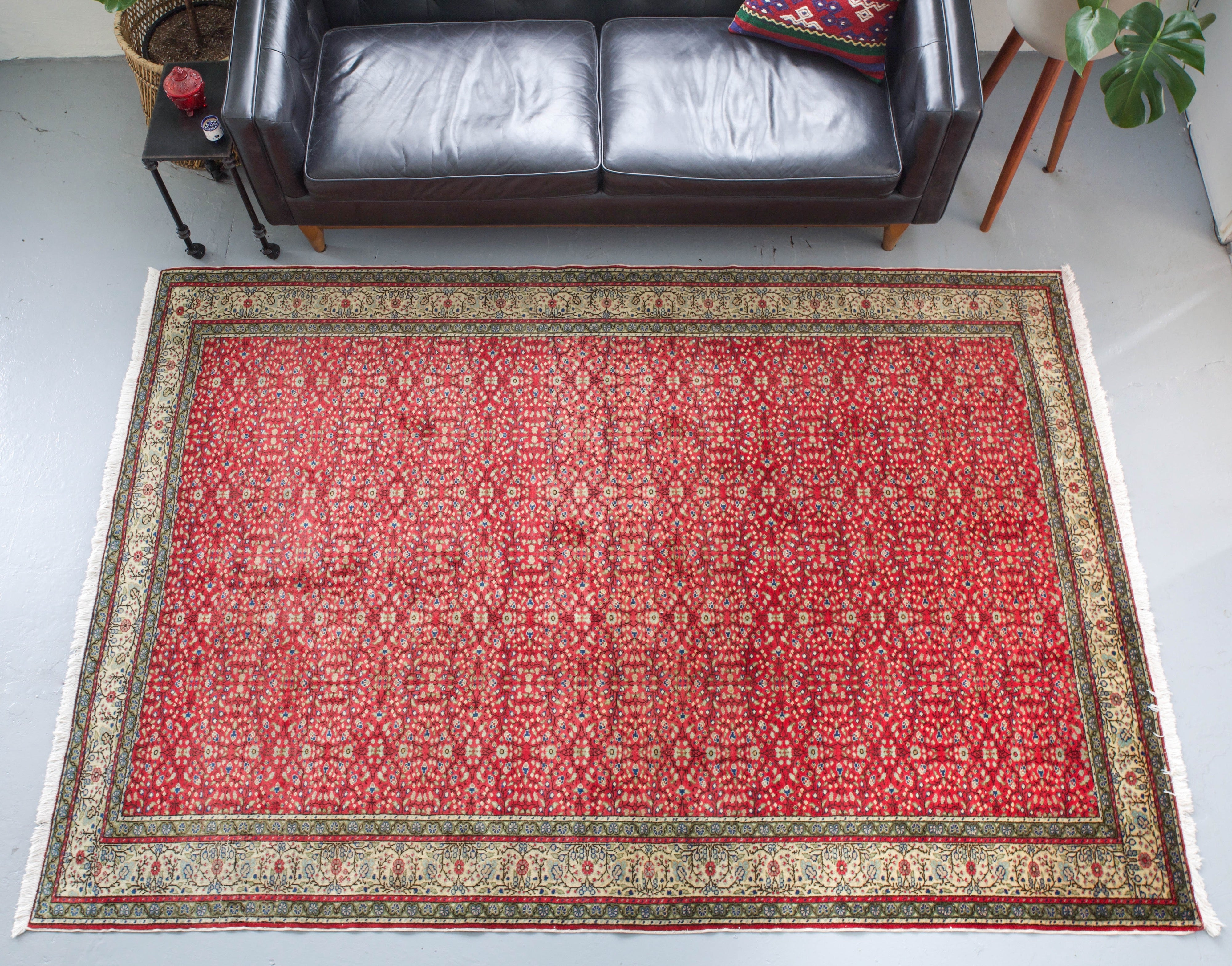 old rug, antique rug, Turkish rug, Portland, Oregon, rug store, rug shop, local shop, bright colors, wild shaman, large rug, area rug, red rug, bold color, burgundy, dark red