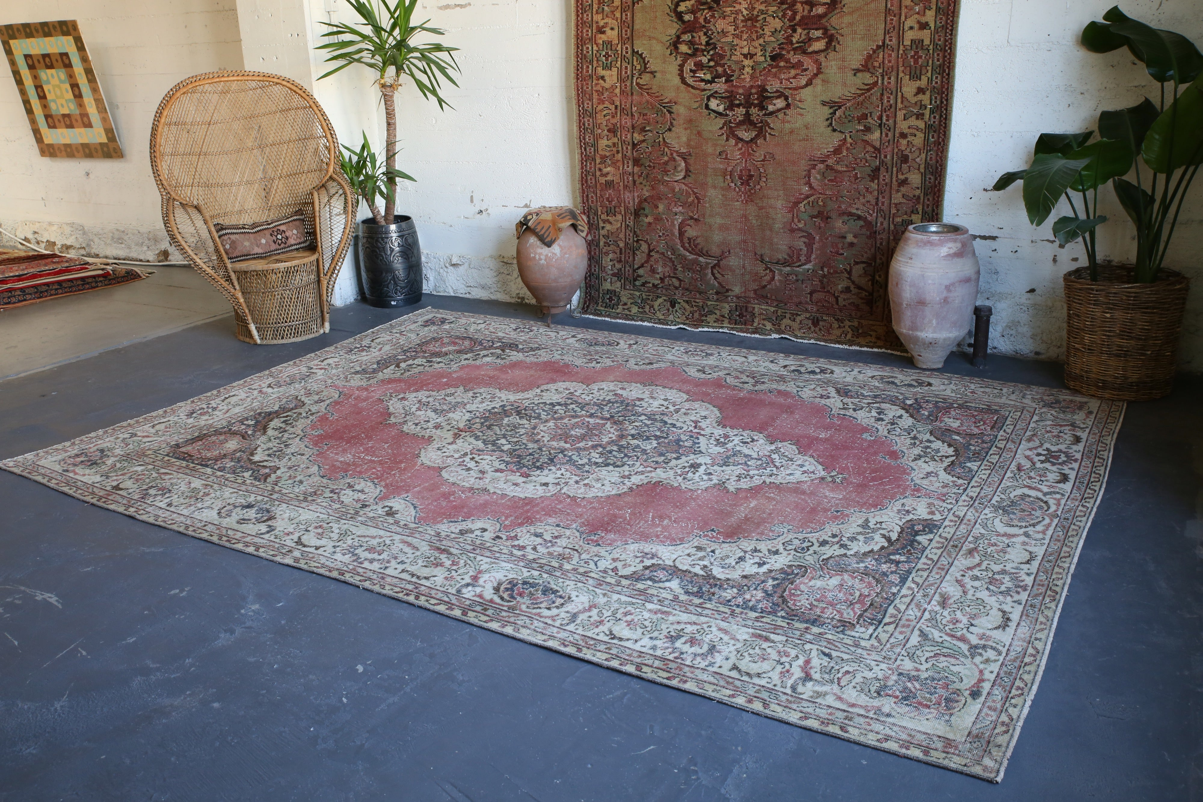 Vintage Turkish Isparta Rug 8.5ftx11.8ft