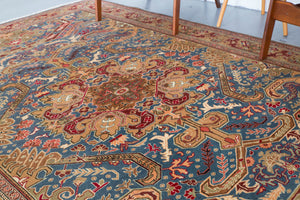 old rug, antique rug, Turkish rug, Portland, Oregon, rug store, rug shop, local shop, bright colors, wild shaman, large rug, area rug, red rug, bold color, peach, petrol blue, bright color