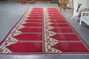 Old Oushak Saf Rug 7.10ftx19.8ft
