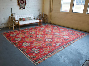 Old Sivas Sarkisla Kilim 9.6ftx12ft