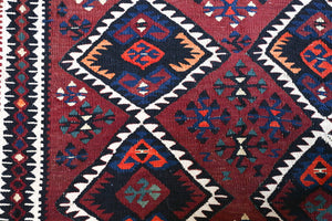 Old Van Kilim Rug 5.5ftx8ft