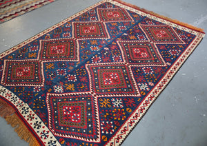 Old Van Kilim 5.2ftx7.4ft