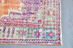 Old Demirci Oushak Rug 6.5ftx9.3ft