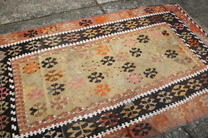 Old Corum Kilim 4.5ftx7.10ft