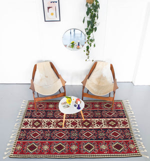 Vintage Turkish Van Kilim Rug