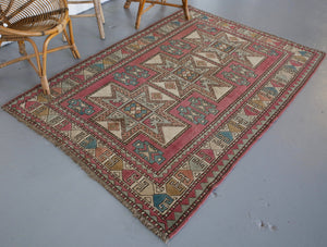 Old Kars Kazak Rug 3ftx6ft