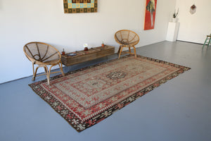 Old Oushak Esme Kilim 5.6ftx10.2ft