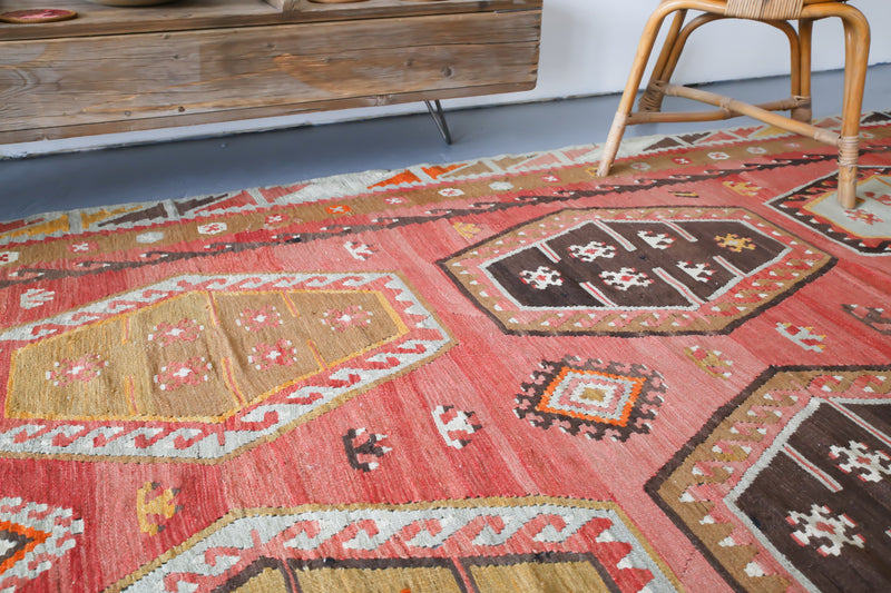 Old Sivas Sarkisla Turkish Kilim Rug 8ftx12.3ft