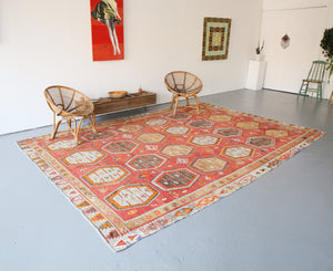 Old Sivas Sarkisla Turkish Kilim Rug 8.6ftx12.4ft