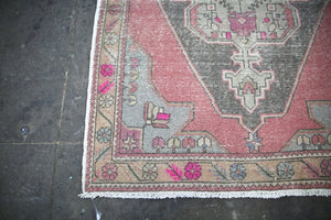 Vintage Faded Anatolian Turkish Rug 4.6ft x 8.5ft