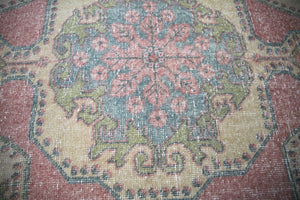 Vintage Faded Anatolian Rug 4.5ft x 7.4ft