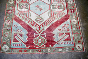 Vintage Konya Karapinar Turkish Rug 3.7ftx5.9ft