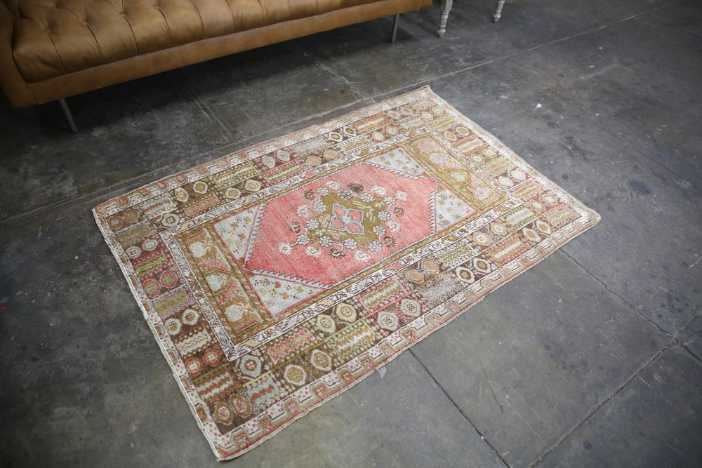 Vintage Anatolian Kirsehir Rug inspired by the Transylvanian Style 3.5x5.2ft